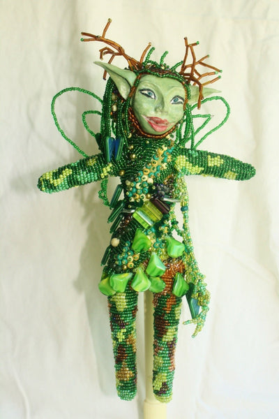 Woodland Fairy - Beaded Art Doll - Heather's Mystical Haven - 1