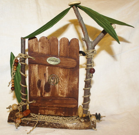 Brown Tropic Dream Fairy Door - Heather's Mystical Haven - 1