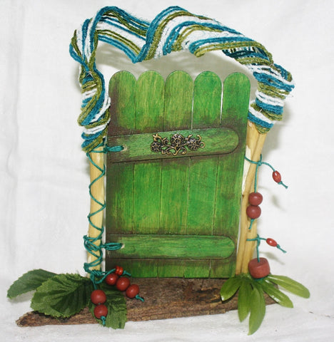 Green Nature Fairy Door - Meditation Aid - Heather's Mystical Haven - 1