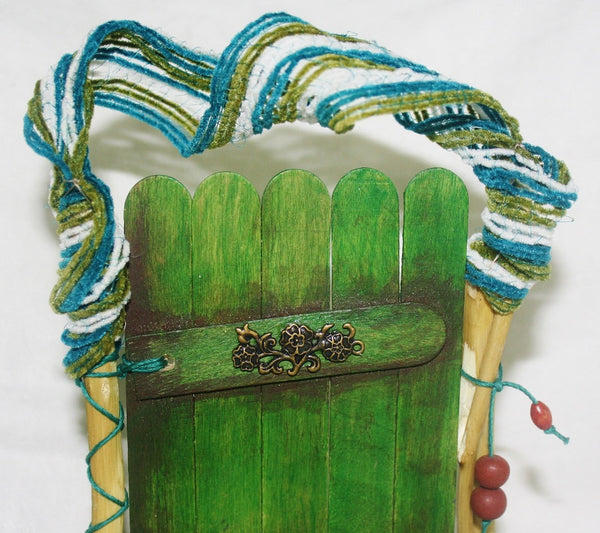 Green Nature Fairy Door - Meditation Aid - Heather's Mystical Haven - 3