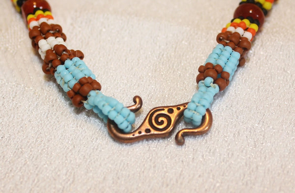 Star Goddess Turquoise and Carnelian Necklace - Heather's Mystical Haven - 4