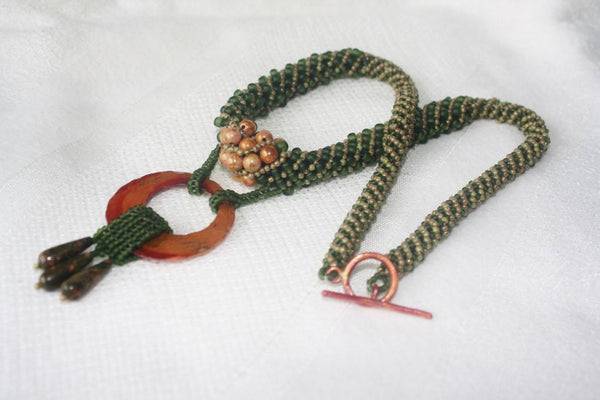 Transitions Necklace with Copper and Rhyolite - Heather's Mystical Haven - 2