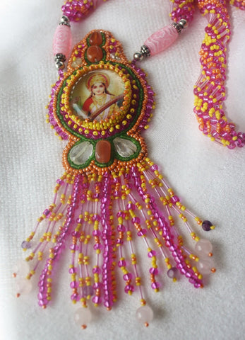 Saraswati Necklace with Gemstones - Heather's Mystical Haven - 1