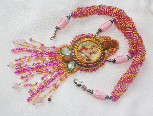 Saraswati Necklace with Gemstones - Heather's Mystical Haven - 4