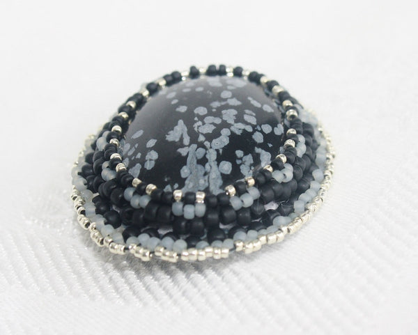 Snowflake Obsidian Brooch - Heather's Mystical Haven - 4