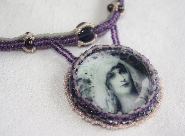 High Priestess Necklace with Amethyst and Iolite - Heather's Mystical Haven - 4