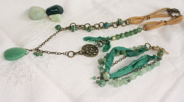 Aventurine Mixed-media Boho Jewelry Set - Heather's Mystical Haven - 2