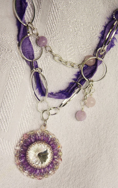 Bright Spark Boho Mixed Media Necklace - Heather's Mystical Haven - 3