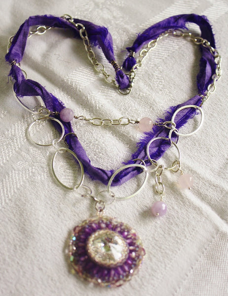 Bright Spark Boho Mixed Media Necklace - Heather's Mystical Haven - 5