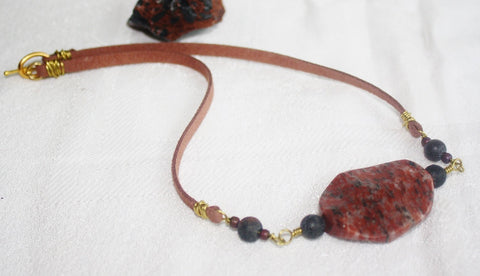 Brecciated Jasper Boho Necklace - Heather's Mystical Haven - 1