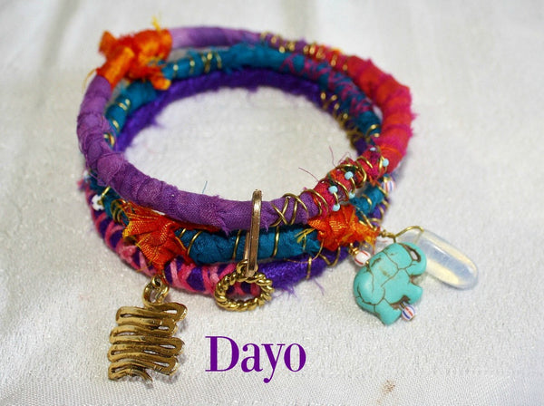 Colorful Boho Bangles - Set of three- Five sets to choose from - Heather's Mystical Haven - 2