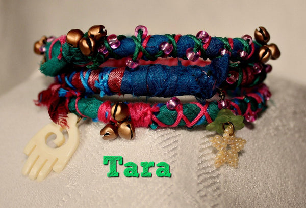 Colorful Boho Bangles - Set of three- Five sets to choose from - Heather's Mystical Haven - 4