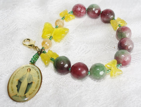 Blessed Mother Watermelon Tourmaline Prayer Beads - Heather's Mystical Haven - 1