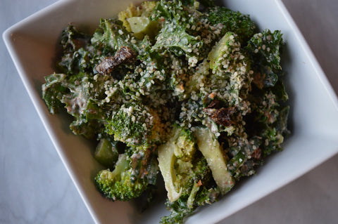 Vegan Broccoli & Kale Salad