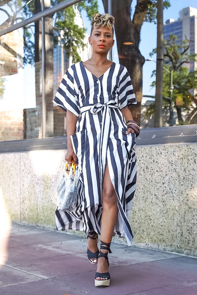 Bold Stripe Midi Dress