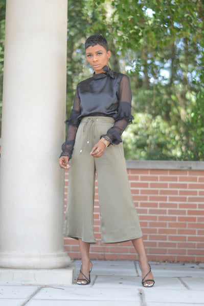 """Olive Socialite"" Cropped Pant"