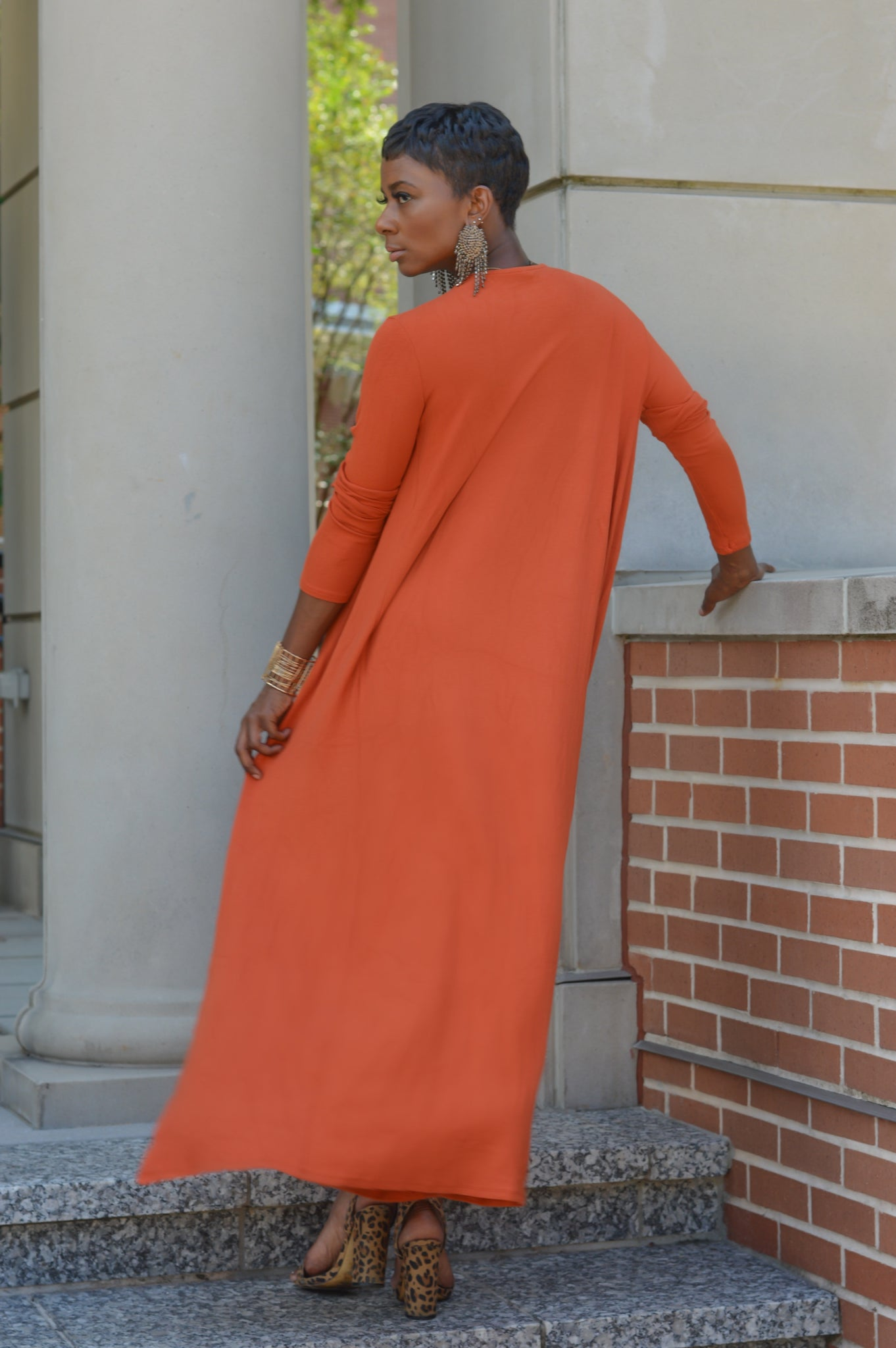 """Orange Cardi"" Set"