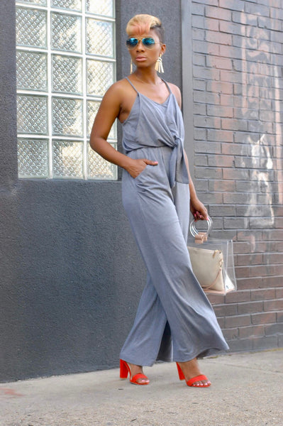 Smoke Grey Jumpsuit
