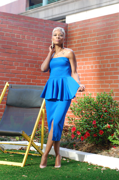"""Feeling Blue"" Midi Dress"
