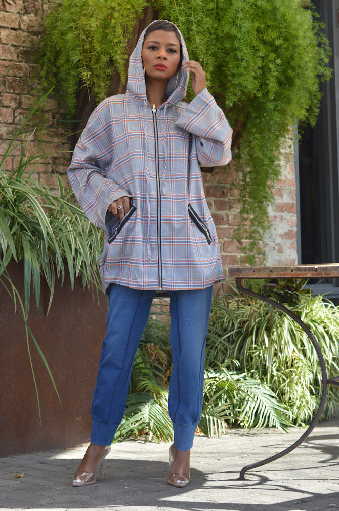 """In the Hood"" Plaid Jacket"