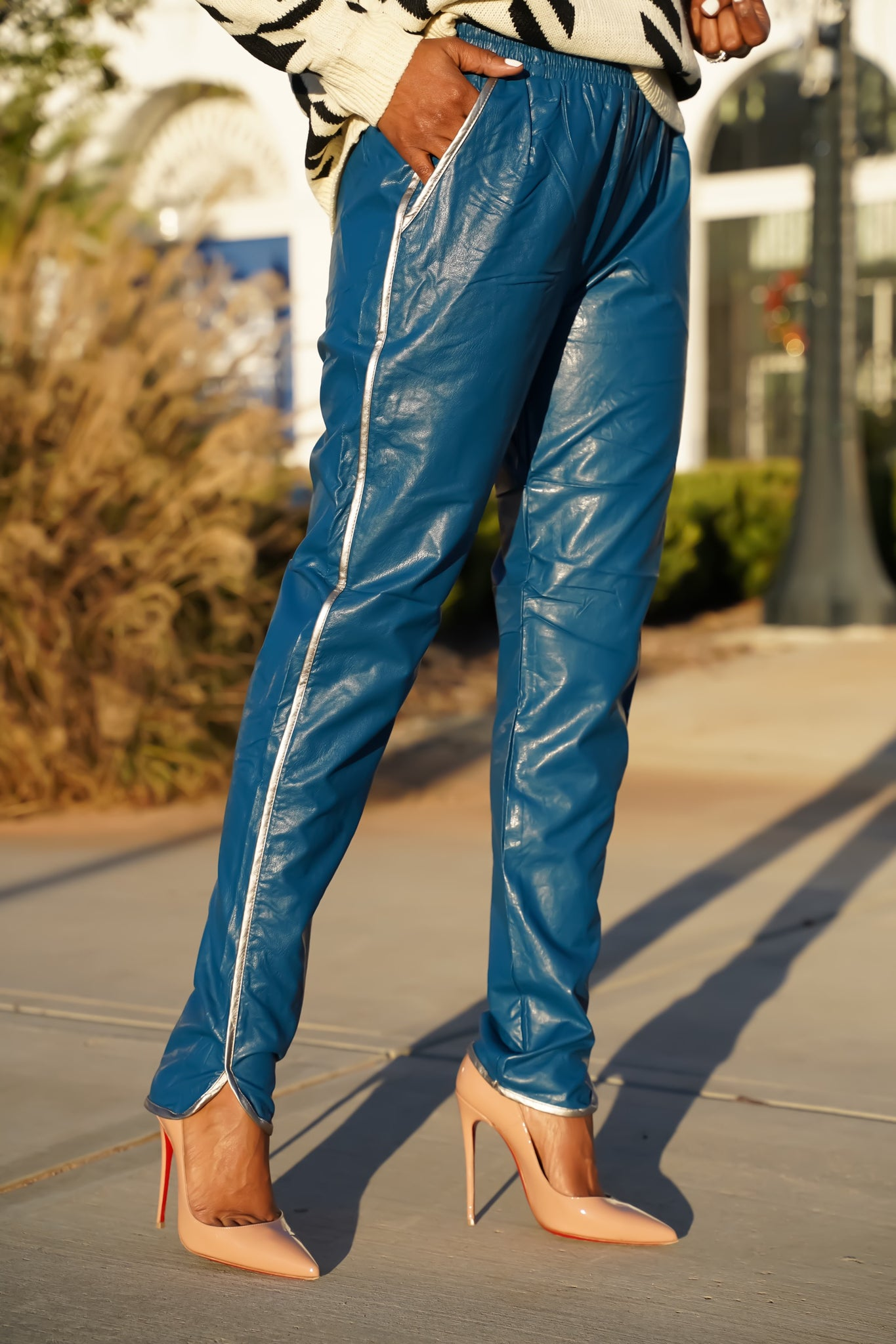 """Twilight"" Faux Leather Pant"