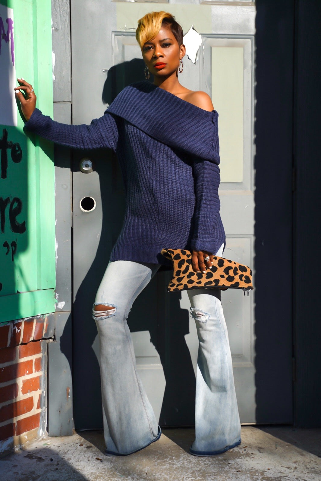 Navy Chunky Sweater
