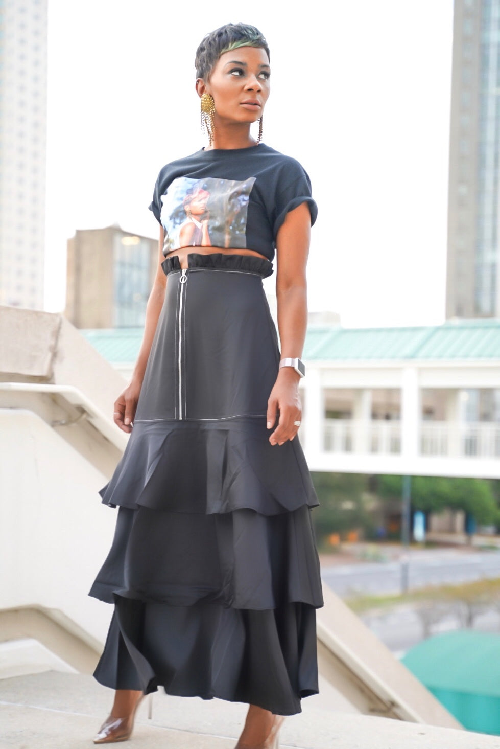 """Black Beauty"" Maxi Skirt"