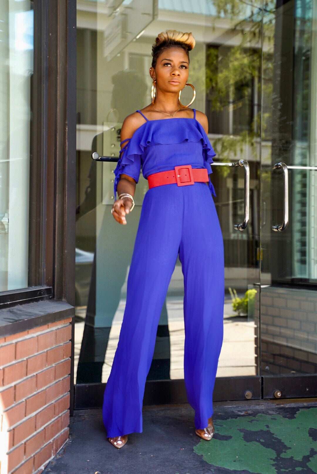 """Vivid Blue"" Jumpsuit"