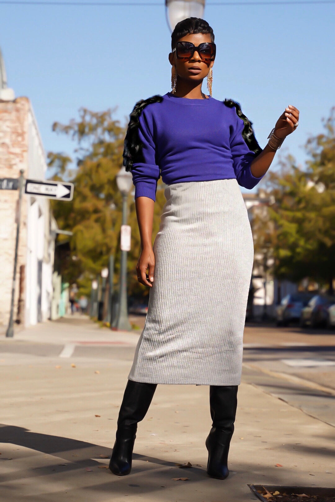 Gray Sweater Skirt