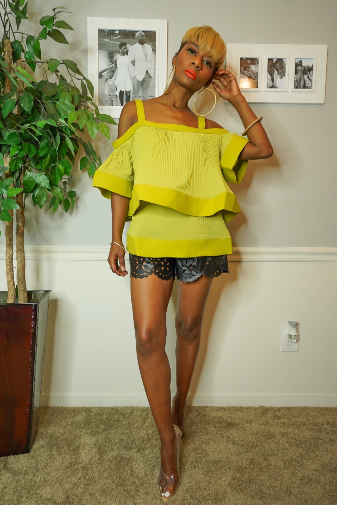 """Chic Chartreuse"" Top"