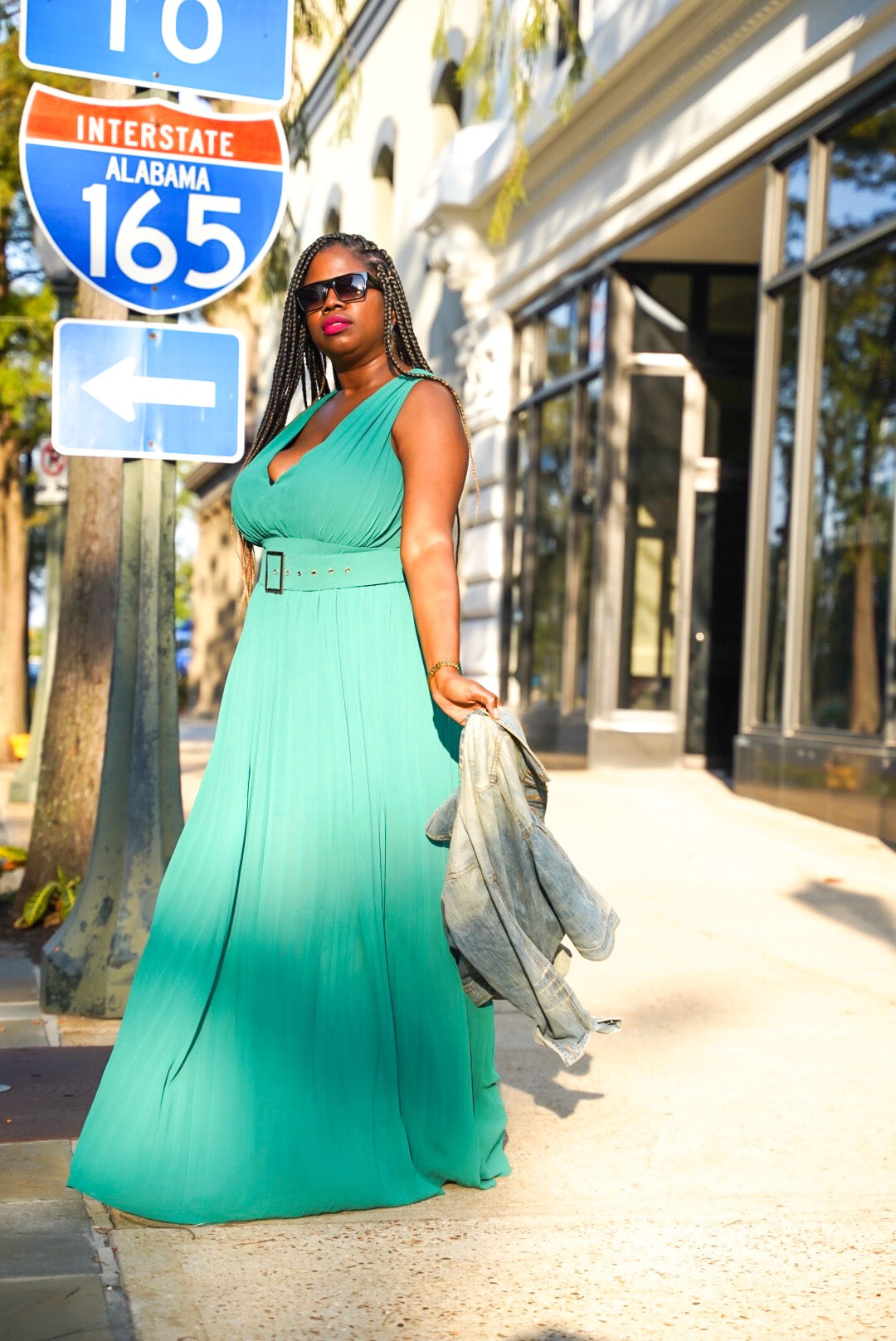 """Emerald Pleats"" Maxi"