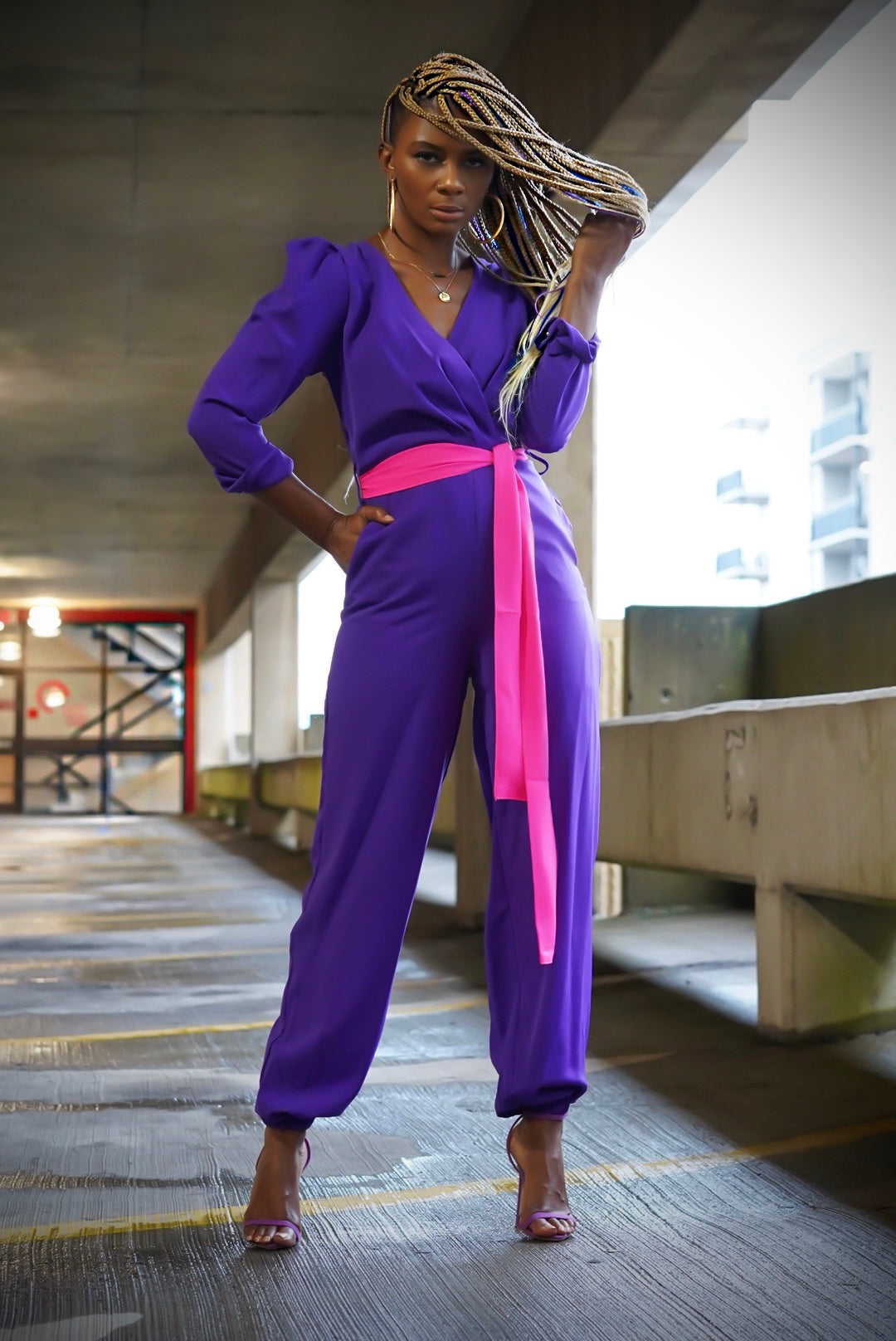 """Royal Purple"" Jumpsuit"