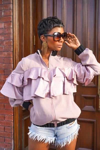 """Pink Eclipse"" Ruffle Jacket"