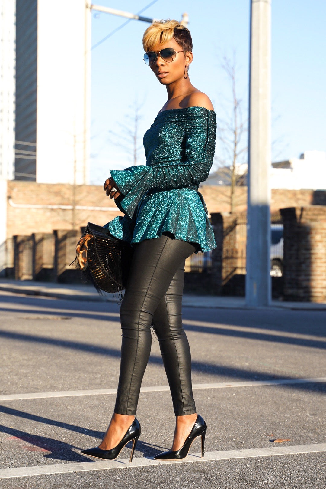 Teal Stardust Blouse