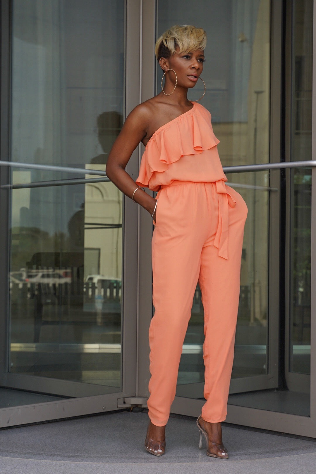 """Just Peachy"" Jumpsuit"