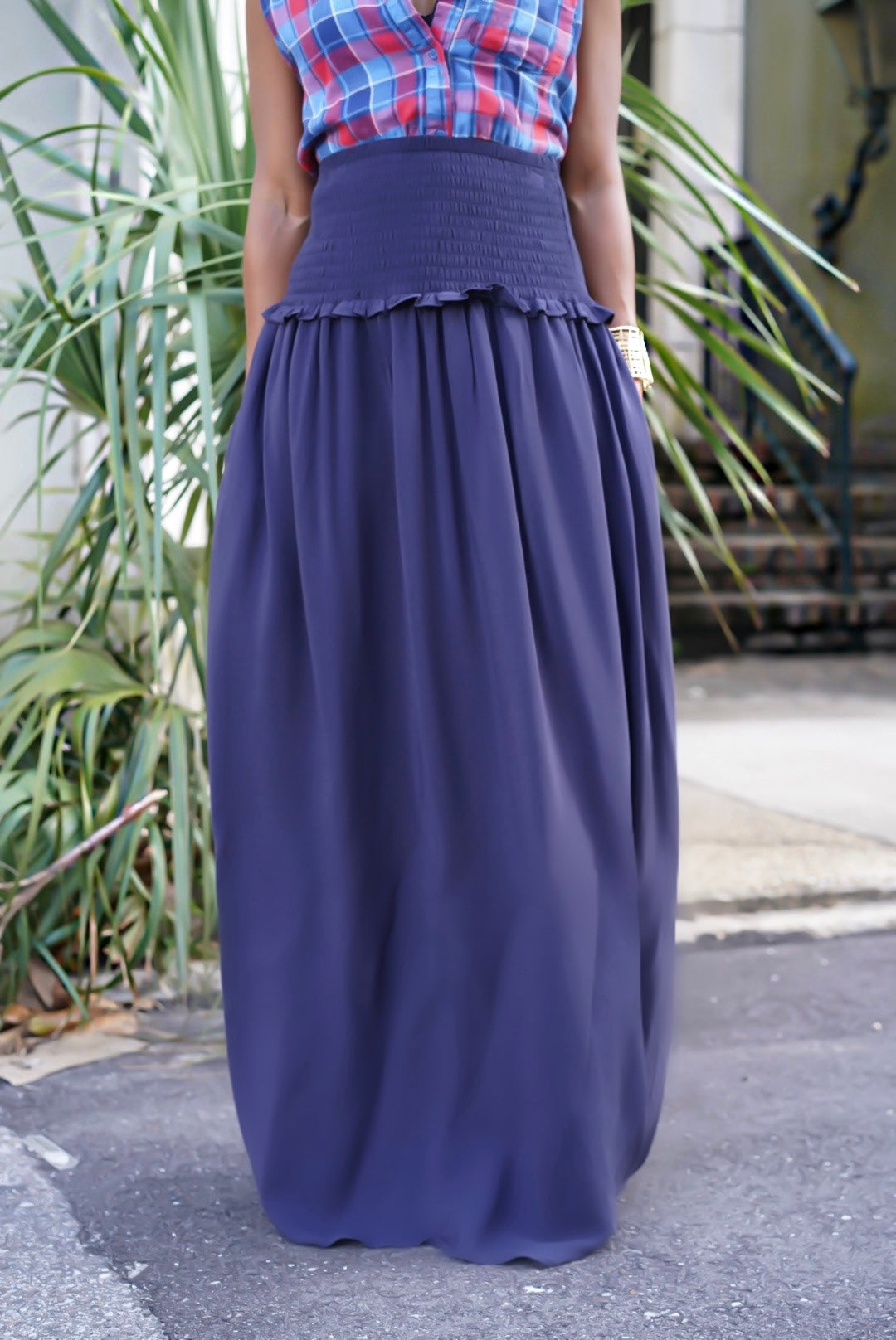 """Deep Navy"" Maxi Skirt"