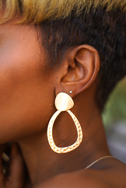 Golden Matte Earring