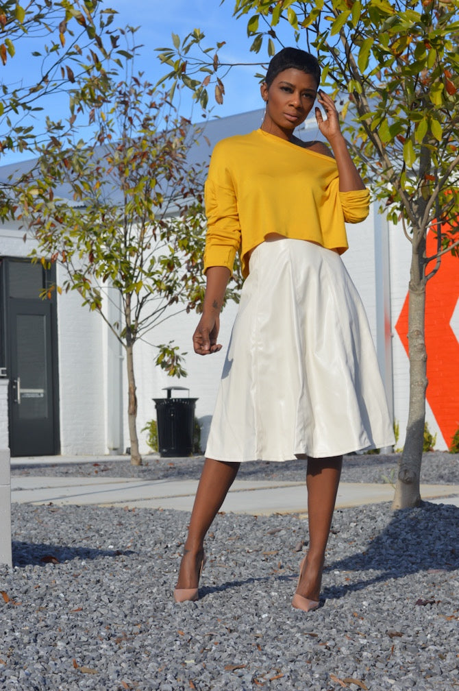 """Ivory"" Faux Skirt"