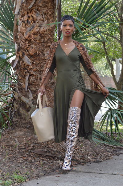 """Miss Olive"" Wrap Dress"