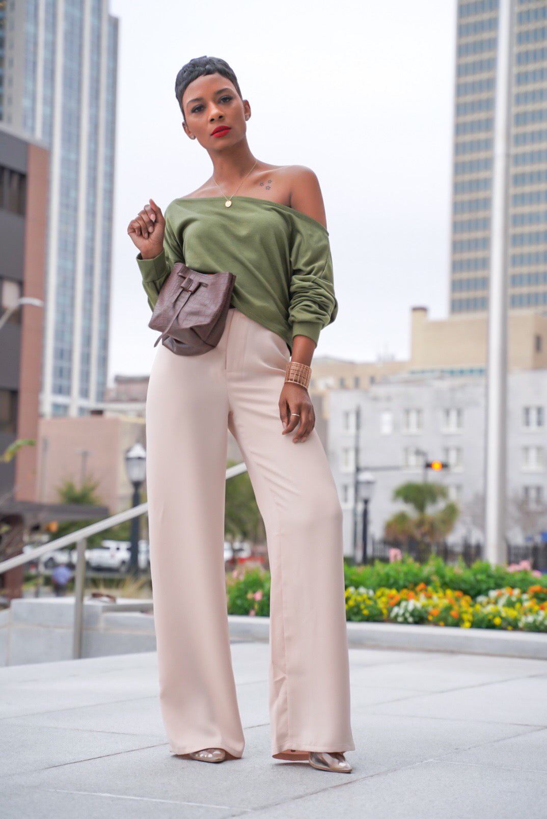 """Beige Mist"" Trousers"