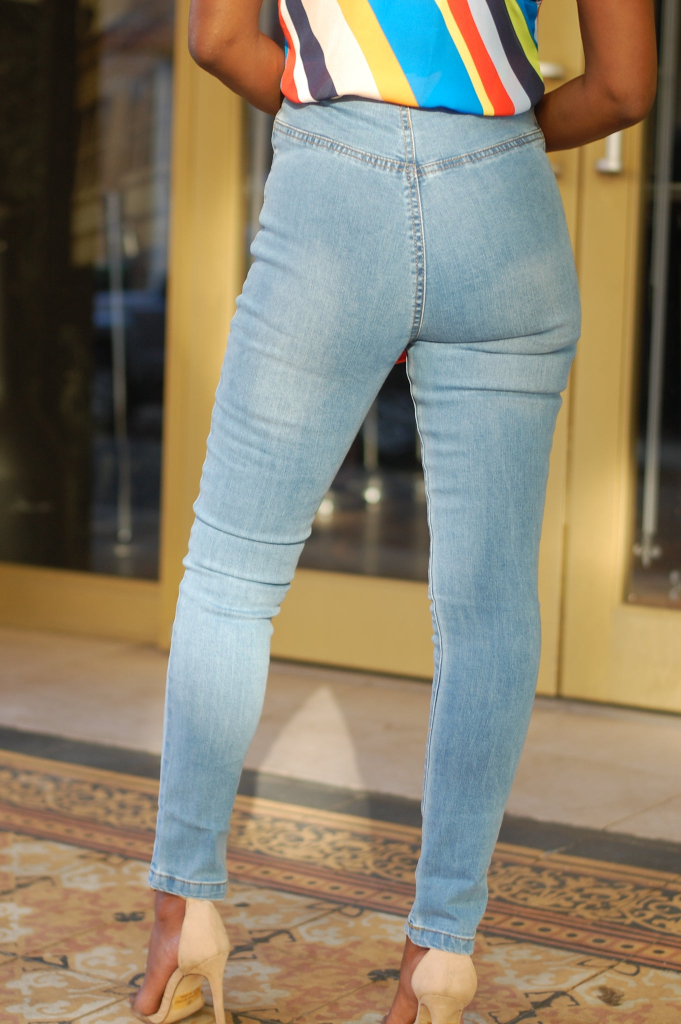 """All Tied Up"" Denim Jeans"