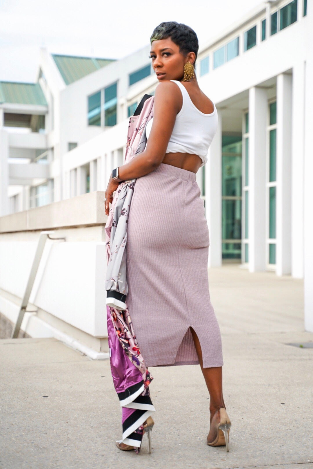 Mauve'lous Sweater Skirt