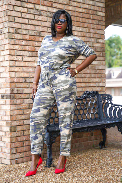 """Camo Curves"" Jumpsuit"