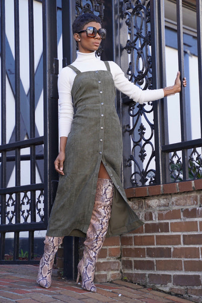 """Miss Olive"" Ribbed Midi"