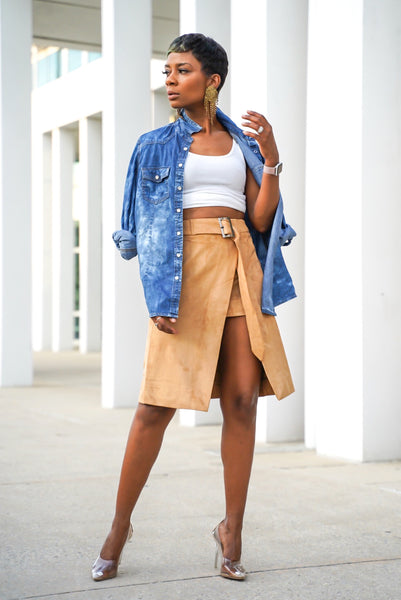"""Tawny"" Suede Skirt"