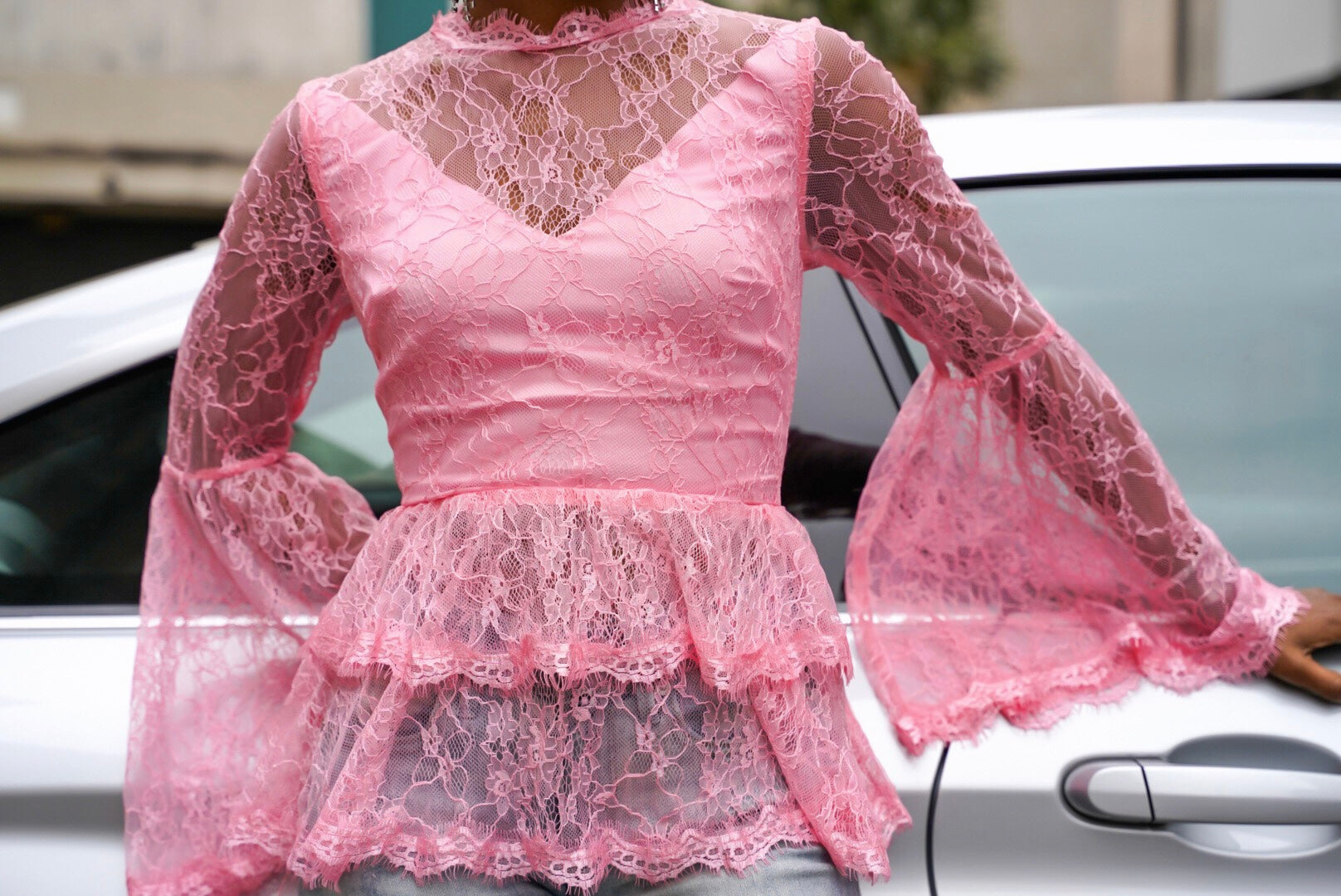 Pretty in Pink Lace Top