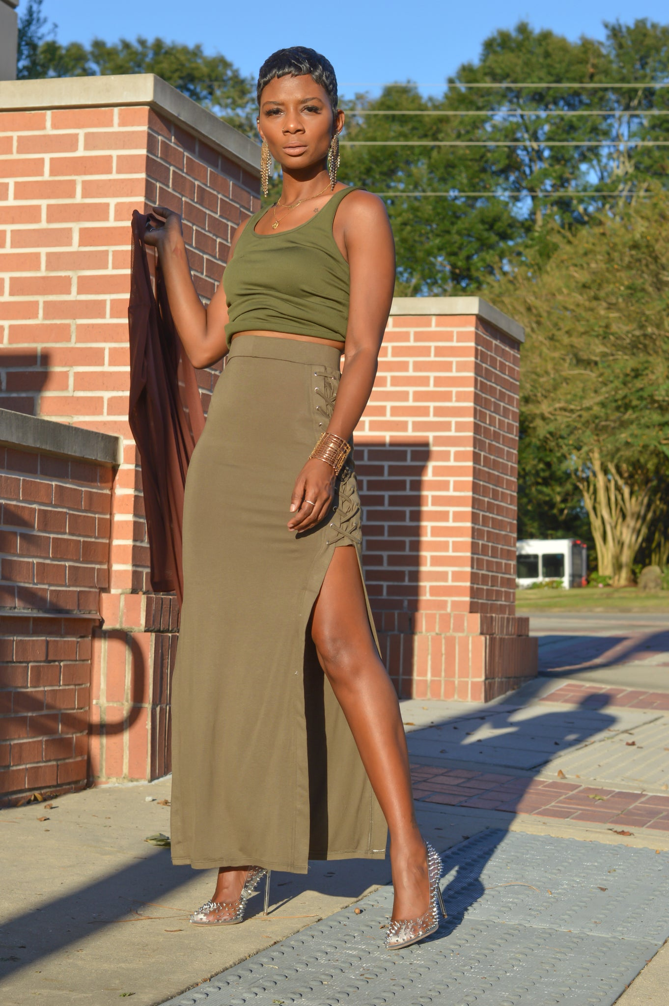 """Corseted"" Maxi Skirt"