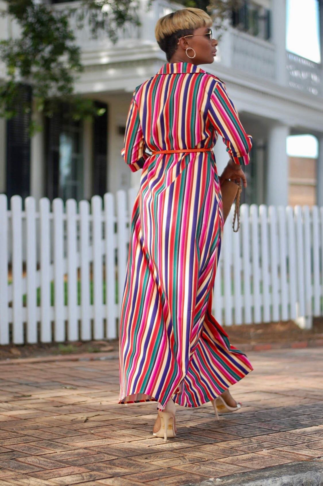 Multi Color Shirtdress