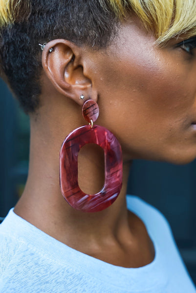 Deep Red Earrings
