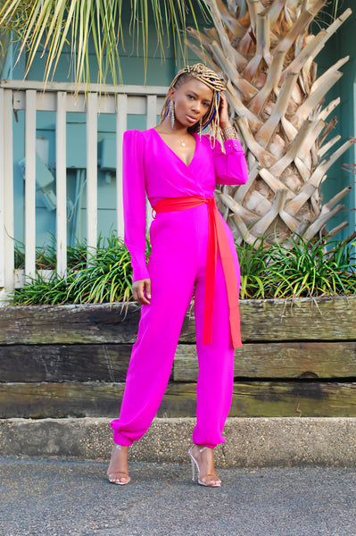 """Poppin' Pink"" Jumpsuit"